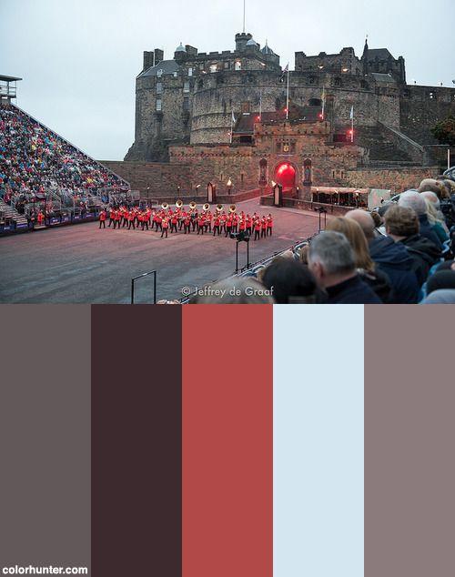Edinburgh Tattoo 2016 Color Scheme from colorhunter.com