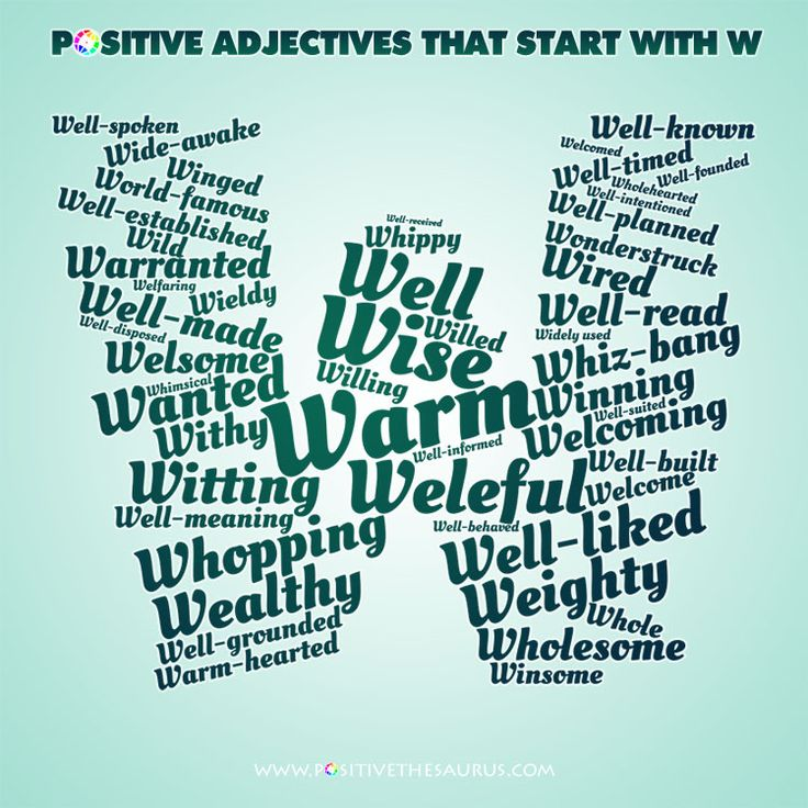 5 letter words that start with w 50 best positive adjectives positive descriptive words 45578