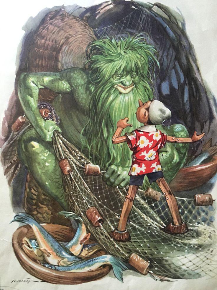 Le avventure di Pinocchio. C. Collodi Illustrazione di Maraja
