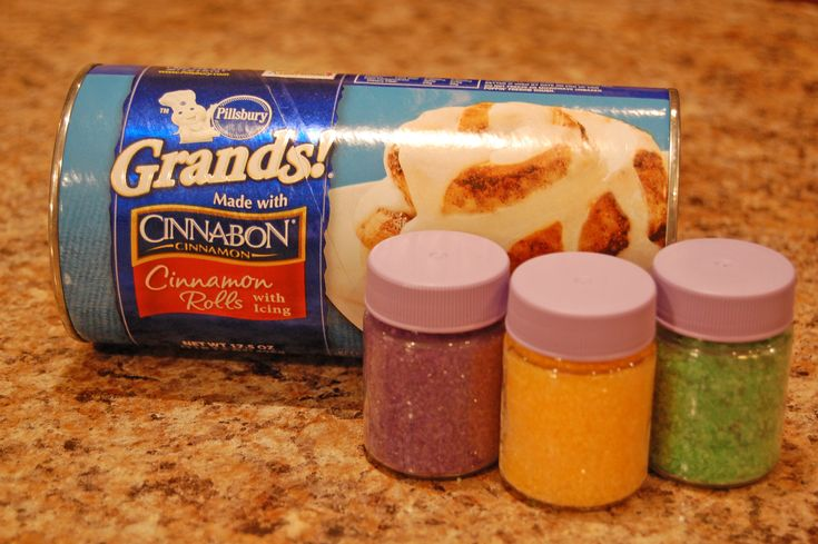 easy king cake. Don't forget the baby!