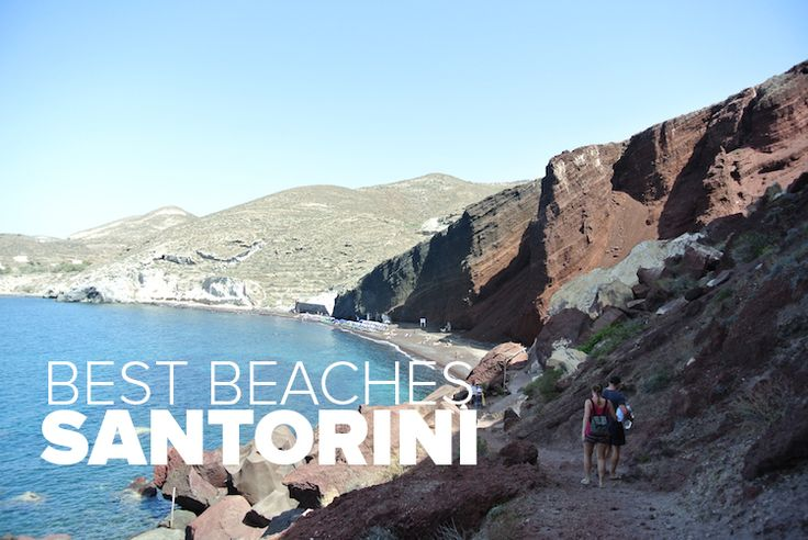 "On a mission to find the best Santorini beaches, Chris and I drove around the island doing some ""research"" to show you the best options."