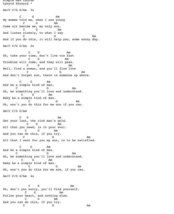 3 Chord Guitar Songs And Lyrics: Some Of My Favorite Tabs