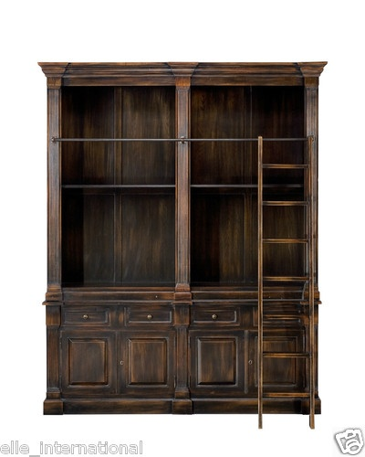 Ebay Bookcases For Sale: British Barrister's Solid Oak Library Bookcase W Glass