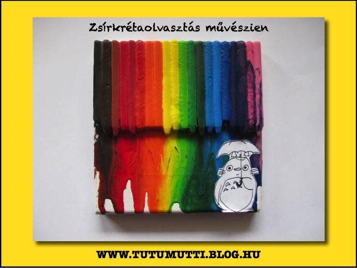 Zsírkrétaolvasztás művészien / Crayon art /  Tutumutti - Gyerekkel kreatívan blog / DIY / Crafts