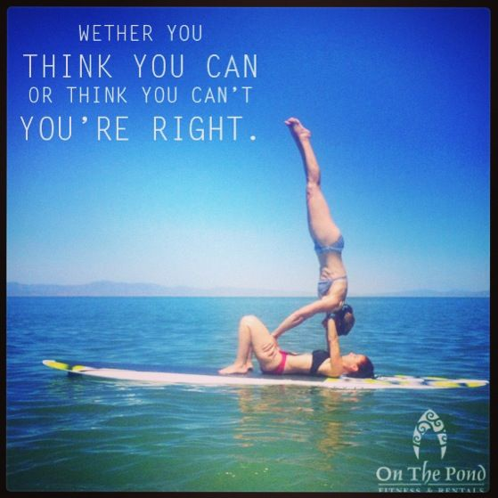 Acro yoga hand stand on a stand up paddle board! | On the ...
