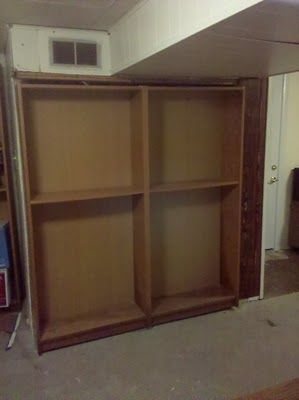 IKEA Hackers: Billy Bookcase door hides furnace or closet or secret room.