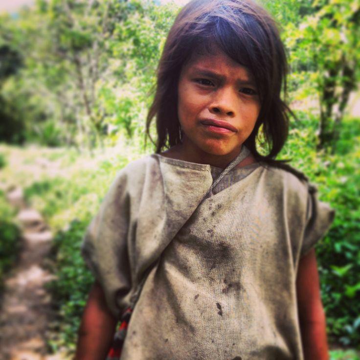 Indigenous child around Ciudad Perdida (Lost City) in Colombia
