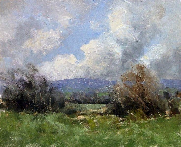 Ciel d'Orage - Huile sur Panneau - 27 x 22 cm (3F)
