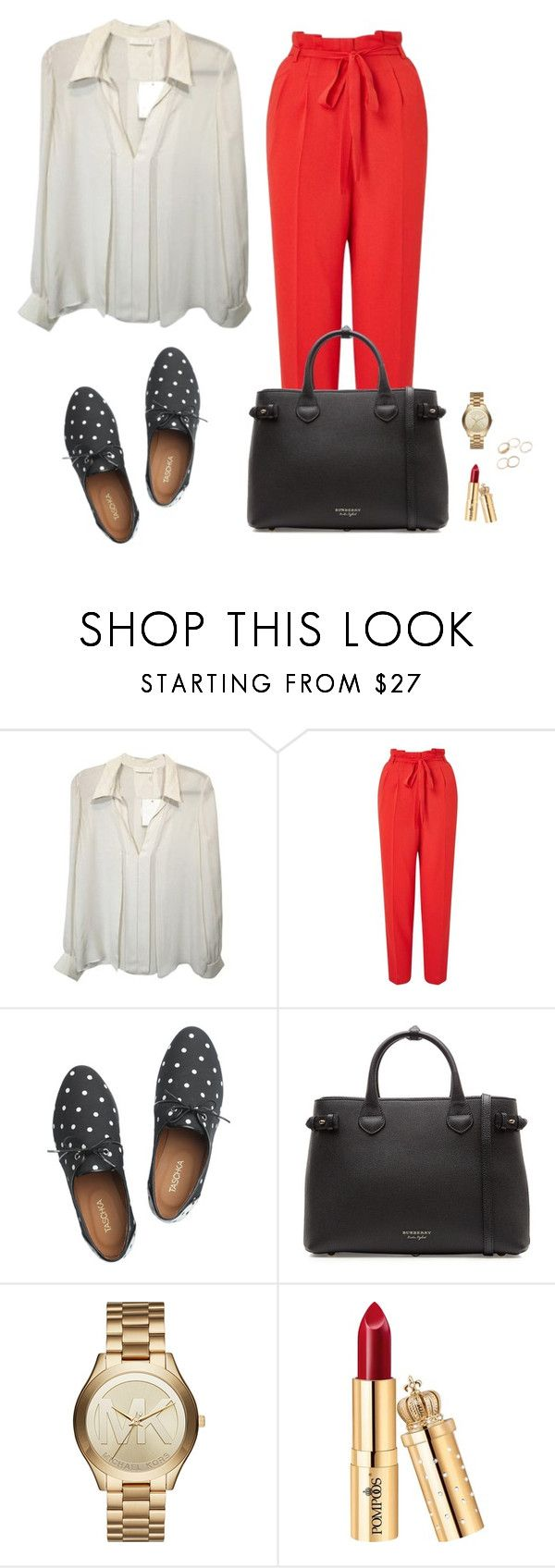 """Office look"" by monika1555 on Polyvore featuring Miss Selfridge, Taschka, Burberry and Michael Kors"