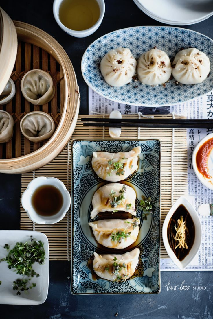 homemade dumplings, three-ways.
