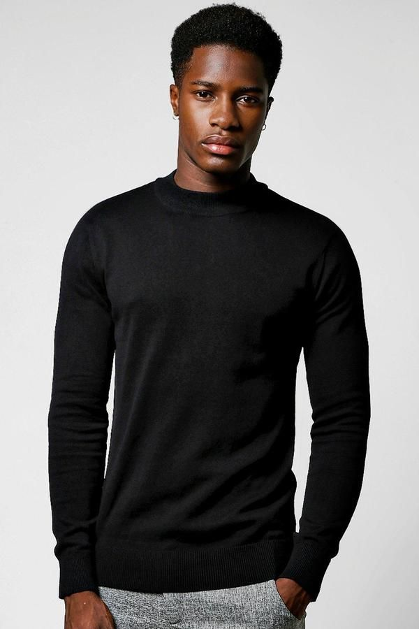boohoo Long Sleeve Knitted Turtle Neck Jumper Klick to see the Price #men#fashion#male#style#menfashion#menwear#menstyle#clothes #boots #man