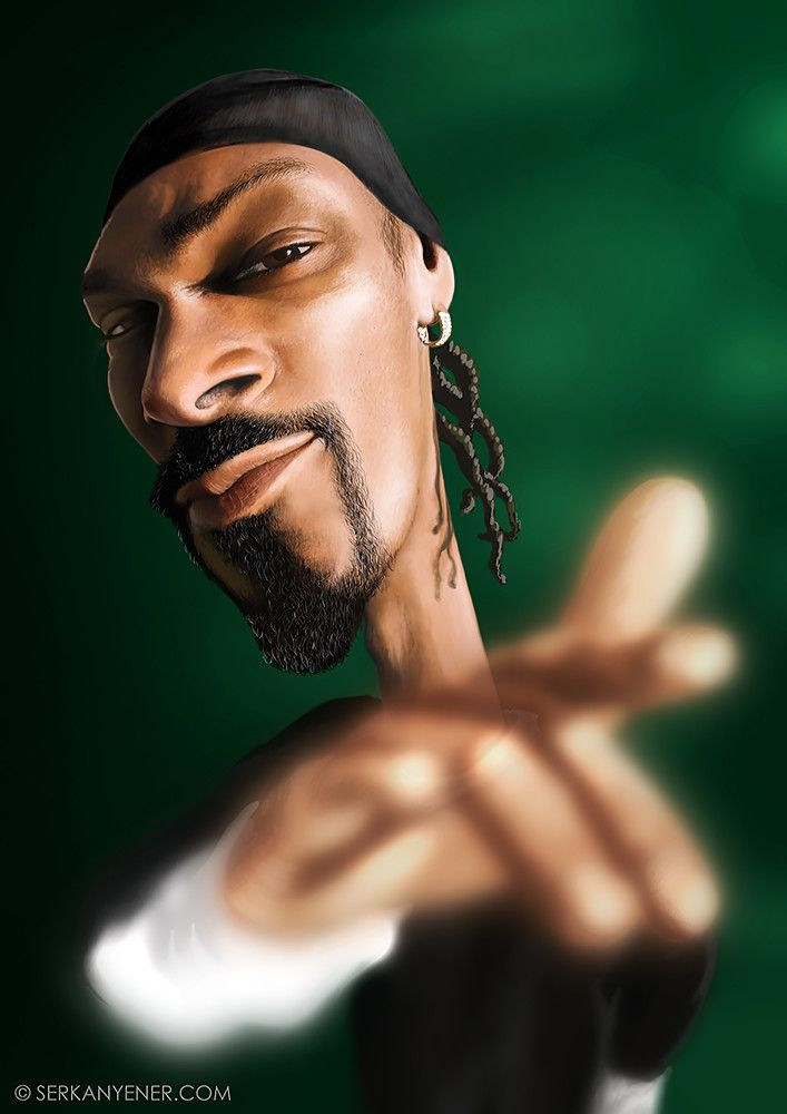 ArtStation - Snoop Dogg Caricature - Digital Painting, Serkan Yener