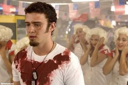justin timberlake in southland tales, 2007