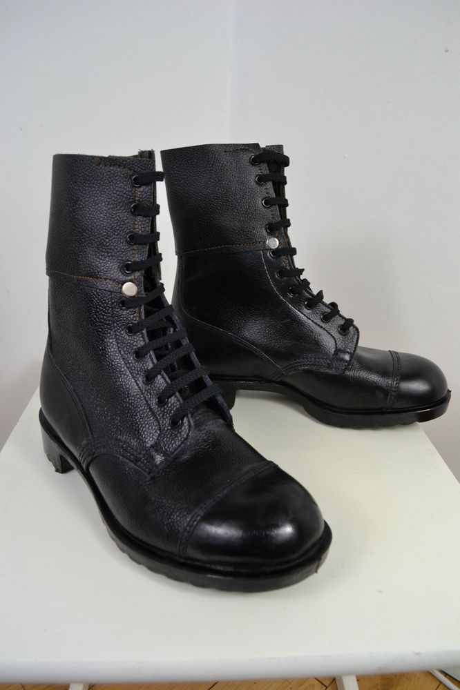 Vintage 1980 S Black British Army Issue Combat Boots Uk Size 8 Boots Mens Fashion Shoes