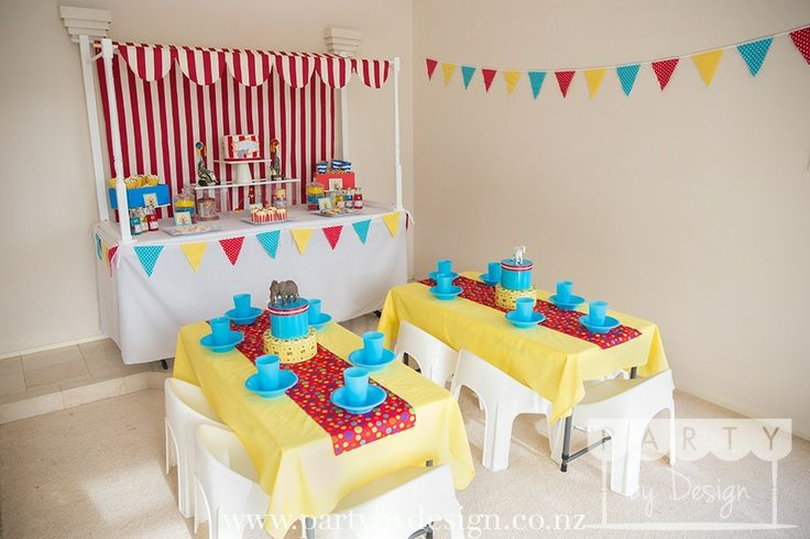 Circus themed children's party package. Contact us at party@partybydesign.co.nz.