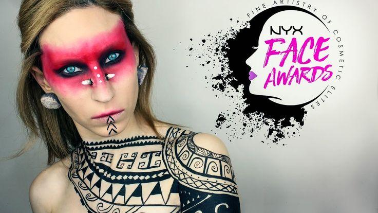 Samoan Warrior   NYX Face Awards 2017 Entry   Giulia Bencich