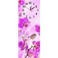 """часы на холсте """" розовые орхидеи """""""