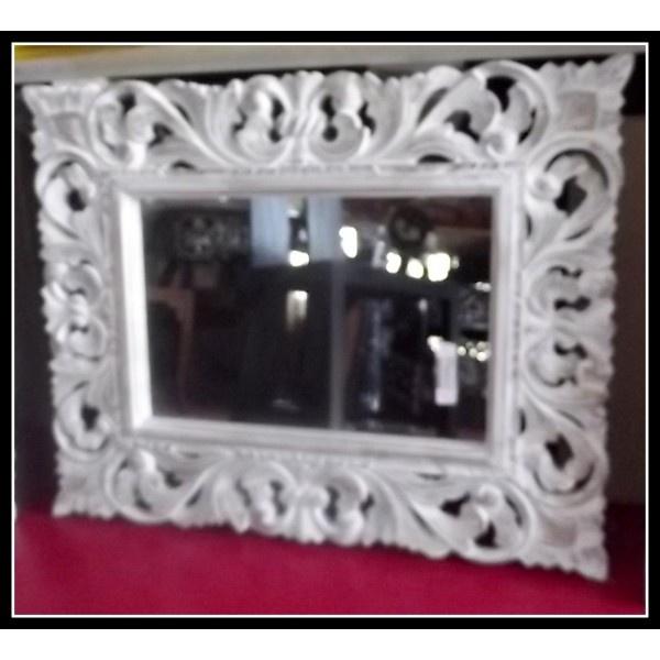 Specchio in Legno intarsiato legno stagionato cm70x55