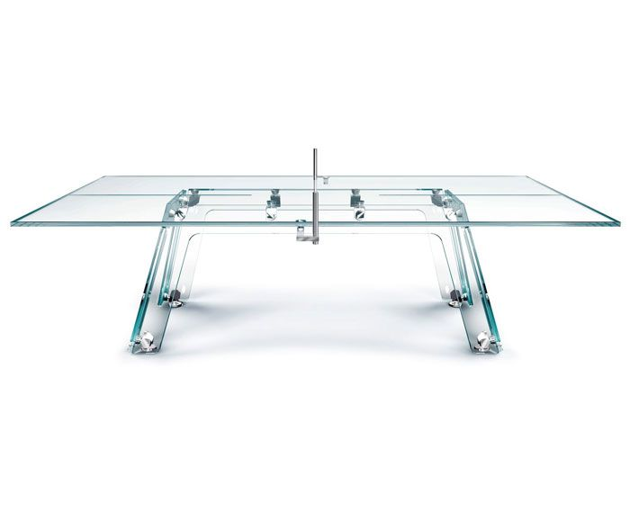 Superb Ping Pong Table Made Of Glass Lungolinea Glass Table