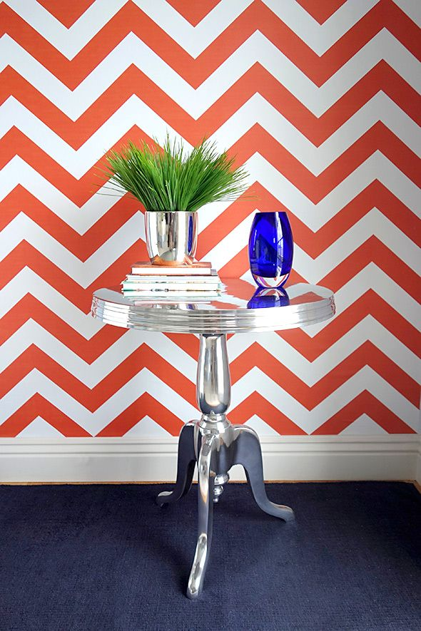 Removable Wallpaper Libby Langdon For Casart Coverings Chic Chevron