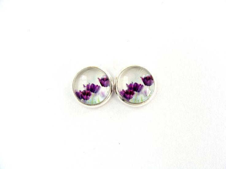 Flowers #7 Stud Earrings by CarolinePrecjoza on Etsy
