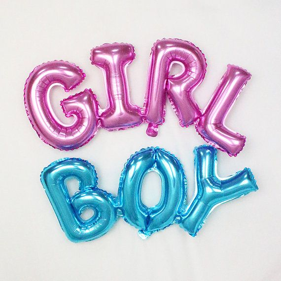 GIRL or BOY balloon; baby balloons; baby announcement; gender reveal; baby shower; baby party; photo prop