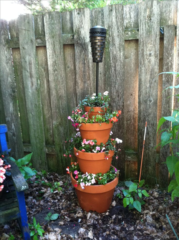 Flower pot tower