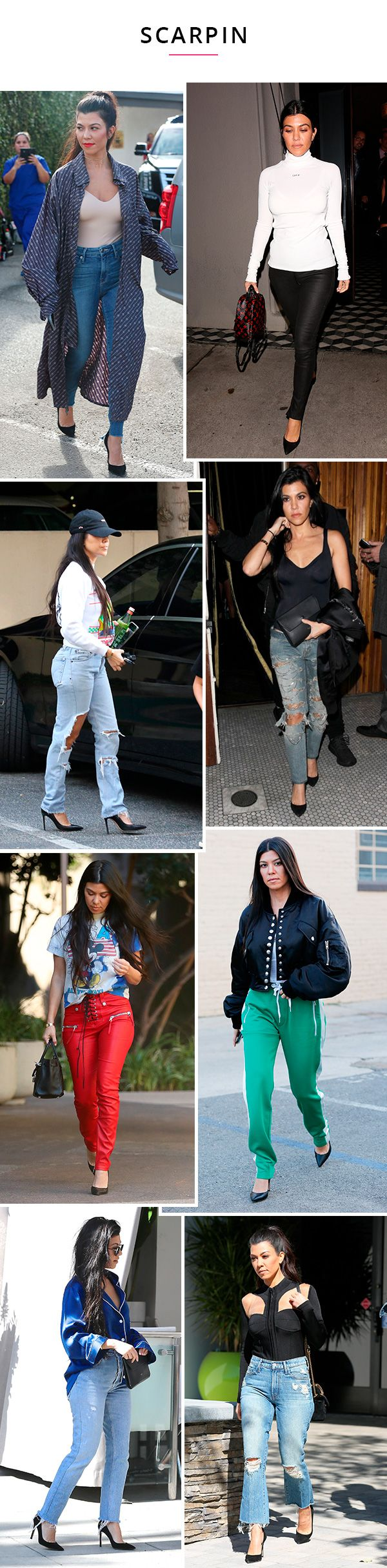 kourtney kardashian usando scarpin