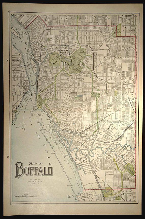 Buffalo Map Buffalo Gift Map Buffalo Print New York City Map Minimalist Map Art Home Town Map Map Poster
