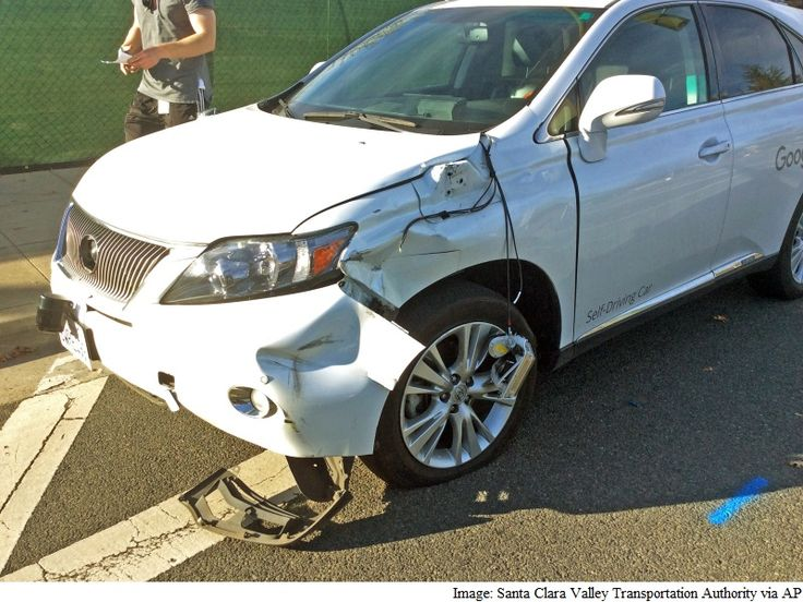 """Google vehicle struck the side of a public bus in the Silicon Valley city of Mountain View. """" Is this the first crash for a Google car? No. The February 14 crash is the first in which Google has acknowledged its car made a mistake that led to a collision."""""""