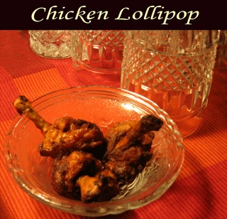 Cooking Up Something Nice: My Daughter's Favorite Chicken Lollipop Recipe. This is my version of the quick and easy chicken lollipop recipe that my daughter loved. This is a chicken fry recipe, if you wish to cut down the calories you could try baking the lolly pop.