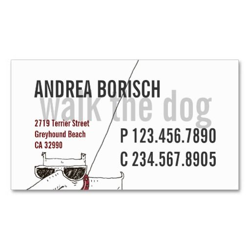 110 best business cards pet sitter images on pinterest business cool modern dog walker business card template reheart Image collections