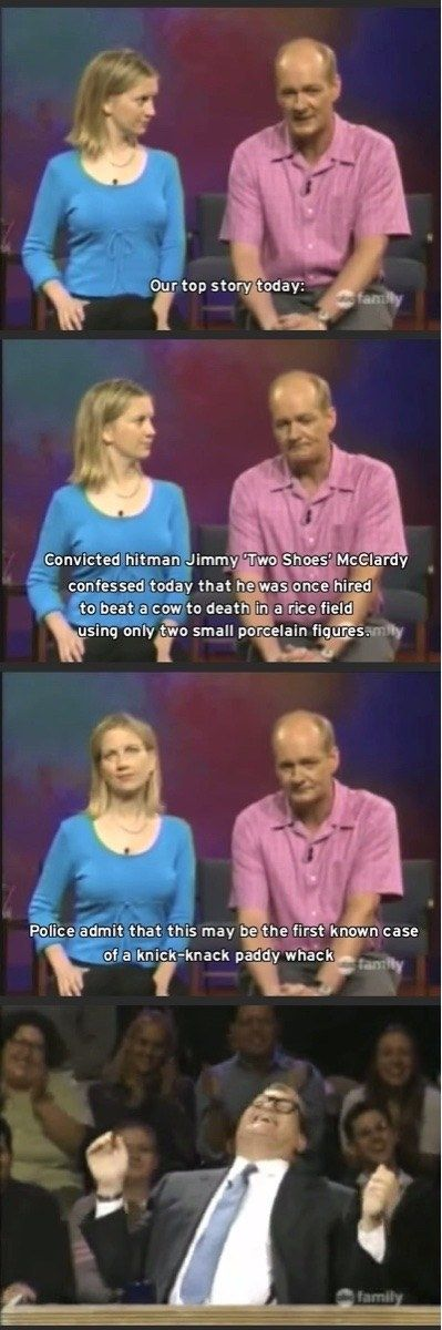 "And finally, when Colin made the greatest pun of all time. | 18 ""Whose Line Is It Anyway?"" Moments That'll Always Make Us Laugh"