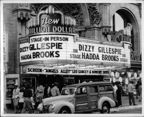 Million Dollar Theater in downtown Los Angeles c. 1940s