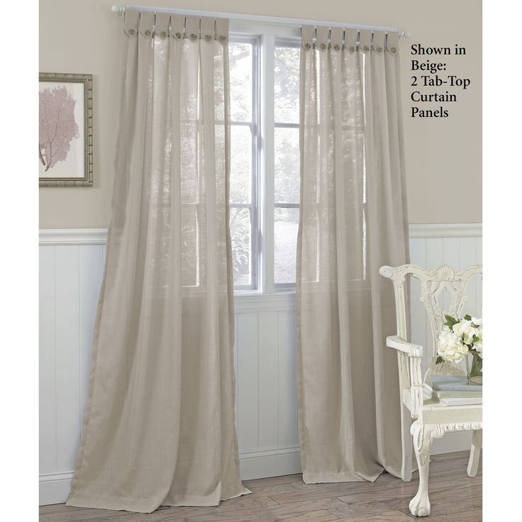 Easton Tab Top Semi Sheer Curtain Panels By Laura Ashley My Office Pinterest Tab Top