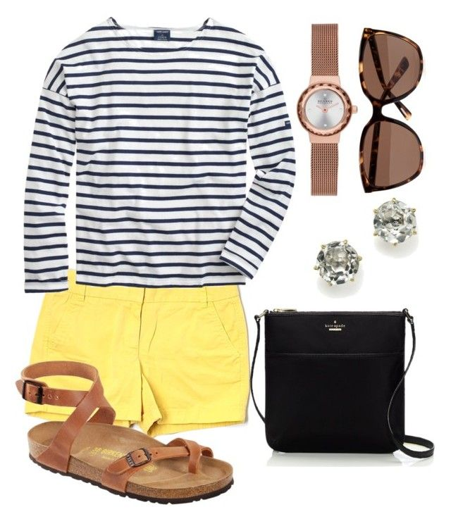 Italy 1 by mollyballerina on Polyvore featuring polyvore, fashion, style, Saint James, J.Crew, Kate Spade, Skagen, Ippolita, Ted Baker, Birkenstock and clothing