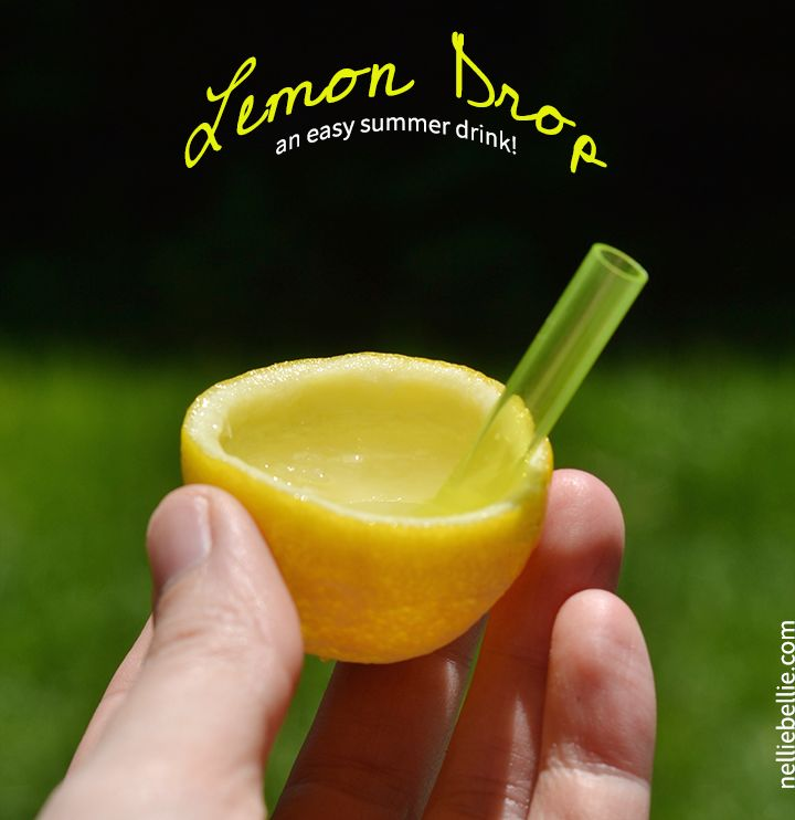 Lemon Drop Recipe. An easy summer drink that is so great for parties and...well, anytime!! gluten-free, alcoholic drink, summer drink
