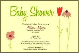 best baby shower invitations ever | Baby Shower Invitation Template Microsoft Word