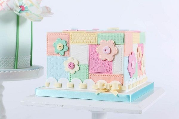 Patchwork Cake Designs on Cake Geek Magazine (patchwork cake by Zoe Clark, The Cake Parlour). See the full Patchwork Cakes feature here: http://cakegeek.co.uk/index.php/patchwork-cake-designs/