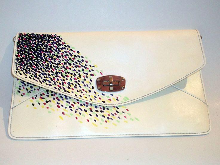 Custom made - Hand Painted Wedding Handbag