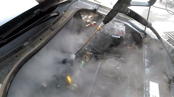 how to steam clean a car engine