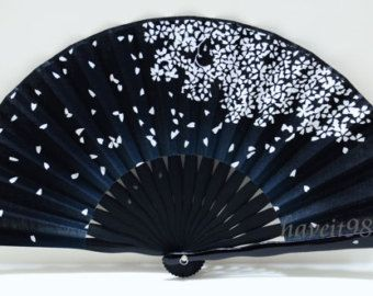 black and red spanish style folding fans - Google Search