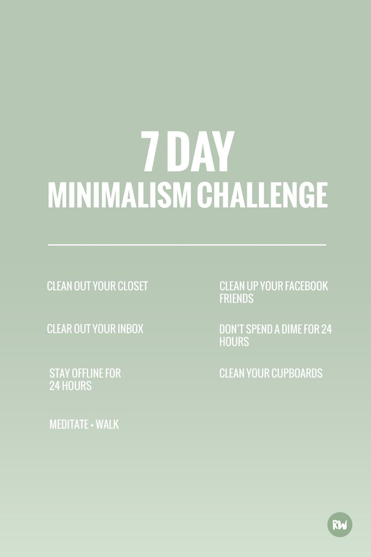 7 day minimalism challenge, Rogue Wood Blog