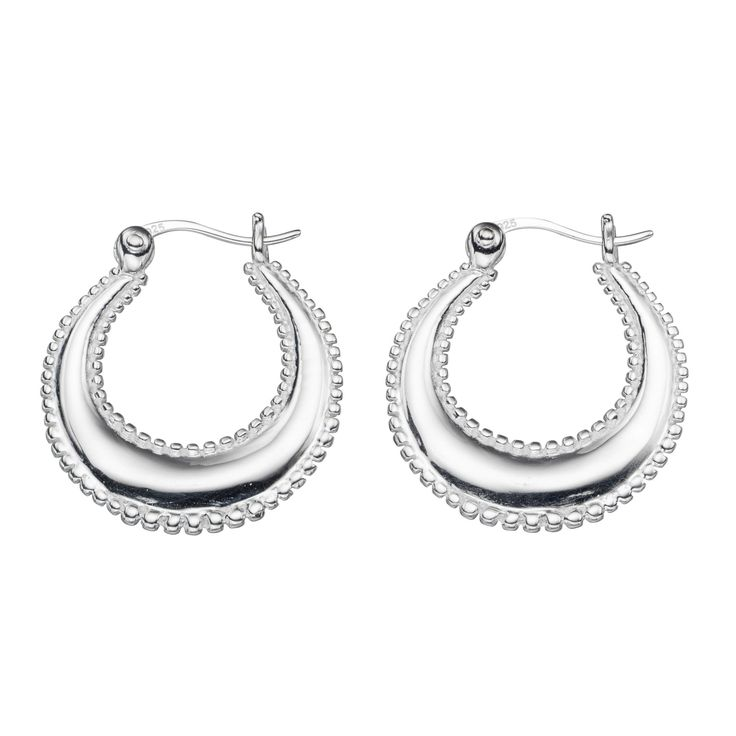 Beginnings Twisted Solid Hoop Earrings - Silver Silver (Colour) W9mD9e5