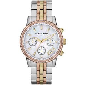 Michael Kors Ritz Chronograph Watch, Light Tricolor