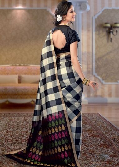 Image result for check sarees