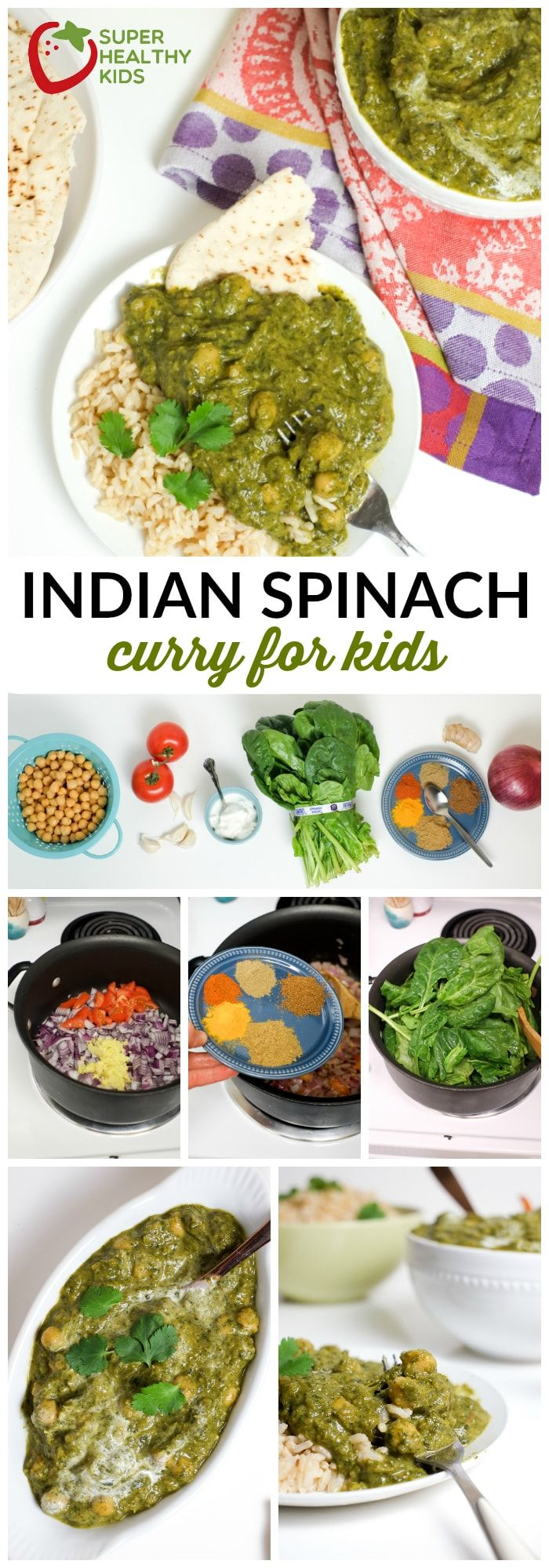 Indian Spinach Curry for Kids