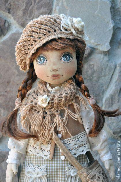 Карамелька - бежевый,текстильная кукла,авторская кукла,интерьерная кукла