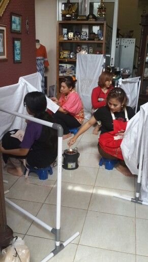 The activity...short course batik trainning...@Griya Khenest Galery, Perumahan Citra Gran Cibubur Bekasi Kota Indonesia..