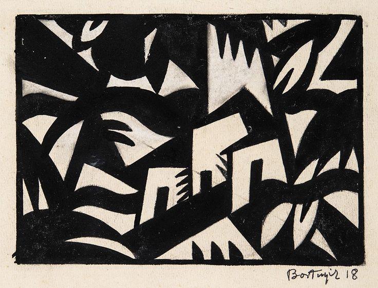 BORTNYIK SÁNDOR (1893-1976) KOMPOZÍCIÓ, 1918